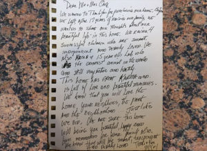 A heartfelt letter