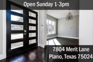 aa Open House 7804 Merit Lane Plano Texas 75024