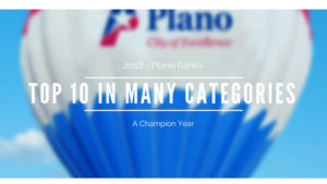 2018 - Plano Ranks Top 10 in Many Different Categories