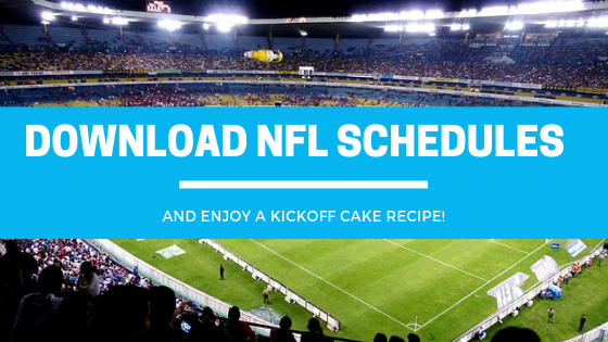 Important NFL Dates and 5 Kickoff Cake Recipes