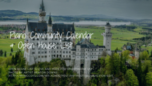 Plano Community Calendar & Open House List (for Smartphones)