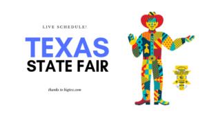 Texas State Fair Live Schedule 2019
